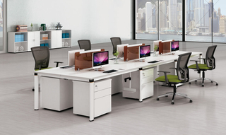 Modern Collaborative Open Plan Office Table Dimensions Staff Desk (HC-95)
